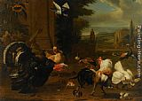 Melchior de Hondecoeter - A Palace Garden with Exotic Birds and Farmyard Fowl