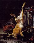 Melchior de Hondecoeter - A Still Life Of Dead Game And Hunting Equipment