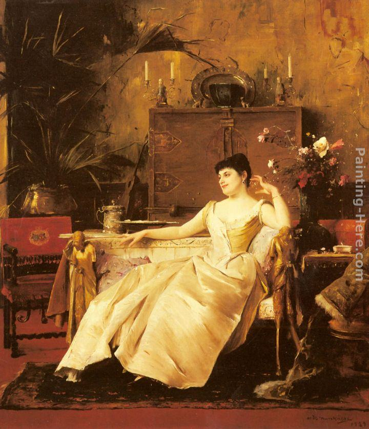Mihaly Munkacsy A Portrait of the Princess Soutzo
