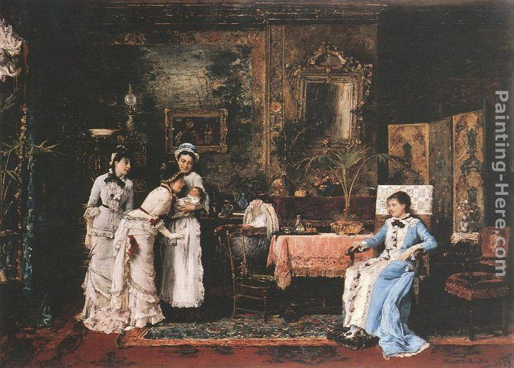Mihaly Munkacsy Baby's Visitors
