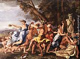 Famous Pan Paintings - Bacchanal before a Statue of Pan