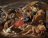 Nicolas Poussin - Helios and Phaeton with Saturn and the Four Seasons