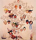 Norman Rockwell Canvas Paintings - A Family Tree