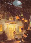 Norman Rockwell Canvas Paintings - And the Symbol of Welcome is Light