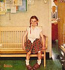 Norman Rockwell Girl with Black Eye painting