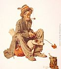 Norman Rockwell Famous Paintings - Hobo and Dog
