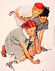 Norman Rockwell Famous Paintings - Marble Champion