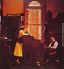 Norman Rockwell Famous Paintings - Marriage License