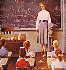 Norman Rockwell Famous Paintings - Teachers' Birthday