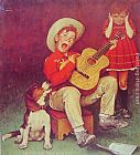 Norman Rockwell Famous Paintings - The Music Man