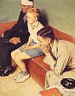 Norman Rockwell Famous Paintings - The Waiting Room