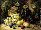 Oliver Clare - Grapes, Apples, A Plum, A Peach And A Strawberry, On A Mossy Bank