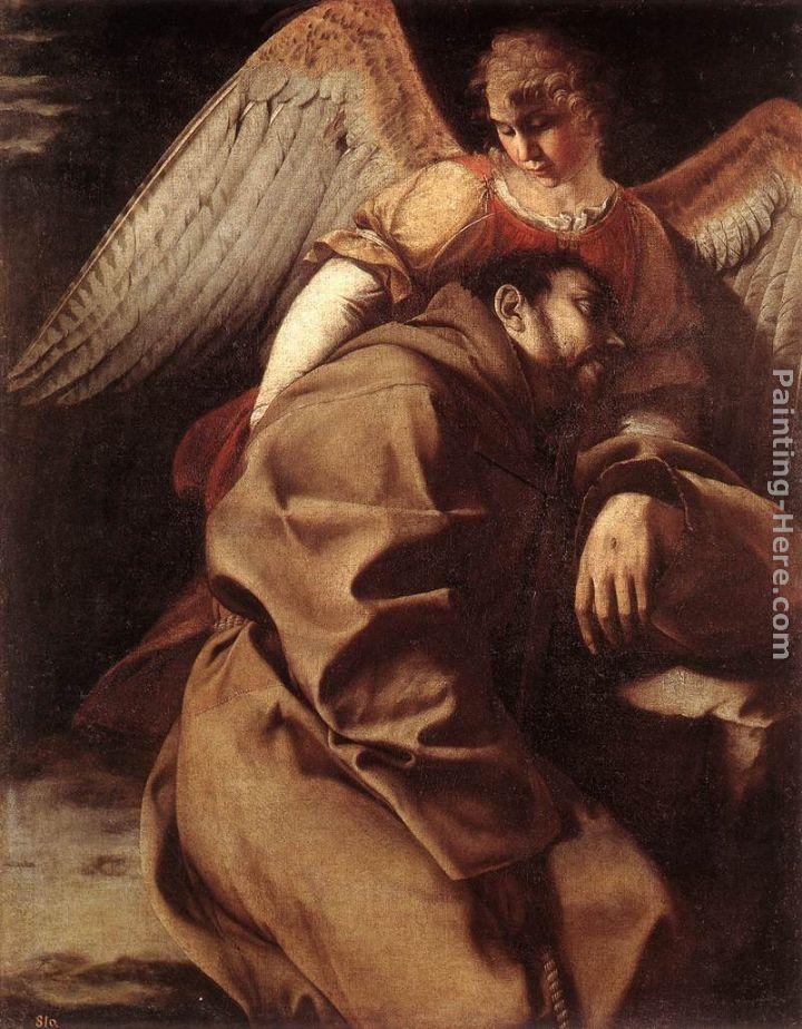 Orazio Gentleschi St Francis Supported by an Angel