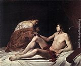Orazio Gentleschi Cupid and Psyche painting