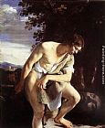Orazio Gentleschi - David Contemplating the Head of Goliath