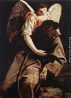 Orazio Gentleschi - St Francis and the Angel