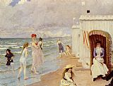 Paul Gustave Fischer - A Day At The Beach