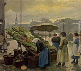 Paul Gustave Fischer - At the Vegetable Market
