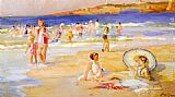 Paul Michel Dupuy - Beach At Biarritz