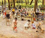 Paul Michel Dupuy Le Parc Monceau A Paris painting