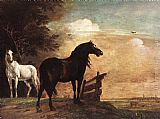 Paulus Potter Horses in a Field painting