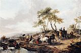 Philips Wouwerman - The Halt of the Hunting Party