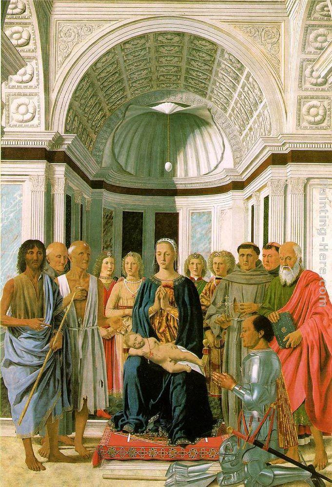 Piero della Francesca Madonna and Child with Saints (Montefeltro Altarpiece)