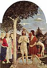 Piero della Francesca Baptism of Christ painting