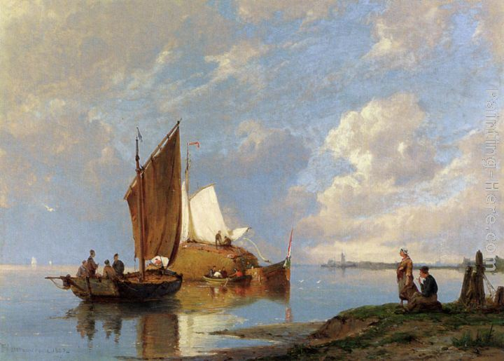Pieter Christian Dommerson Off Volendam On The Zuiderzee