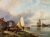 Pieter Christian Dommerson On The Spaarne, Haarlem painting