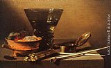 Pieter Claesz - Still Life with Wine and Smoking Implements