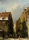 Famous Dutch Paintings - A Wintry Dutch Town