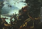 Pieter the Elder Bruegel - Landscape with the Temptation of Saint Anthony