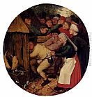 Pieter the Younger Brueghel - Pushed Into The Pig Sty