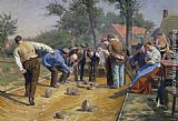 Remy Cogghe - Playing Boules iin a Flemish Village