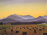 Rockwell Kent - Hay Bales, Evening, Below Whiteface
