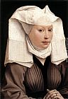 Rogier Van Der Weyden Famous Paintings - Lady Wearing a Gauze Headdress