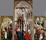 Rogier Van Der Weyden Famous Paintings - Seven Sacraments Altarpiece