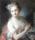 Rosalba Carriera - Nymph from Apollo's Retinue