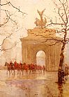 Rose Barton - Hyde Park Corner, With Household Cavalry