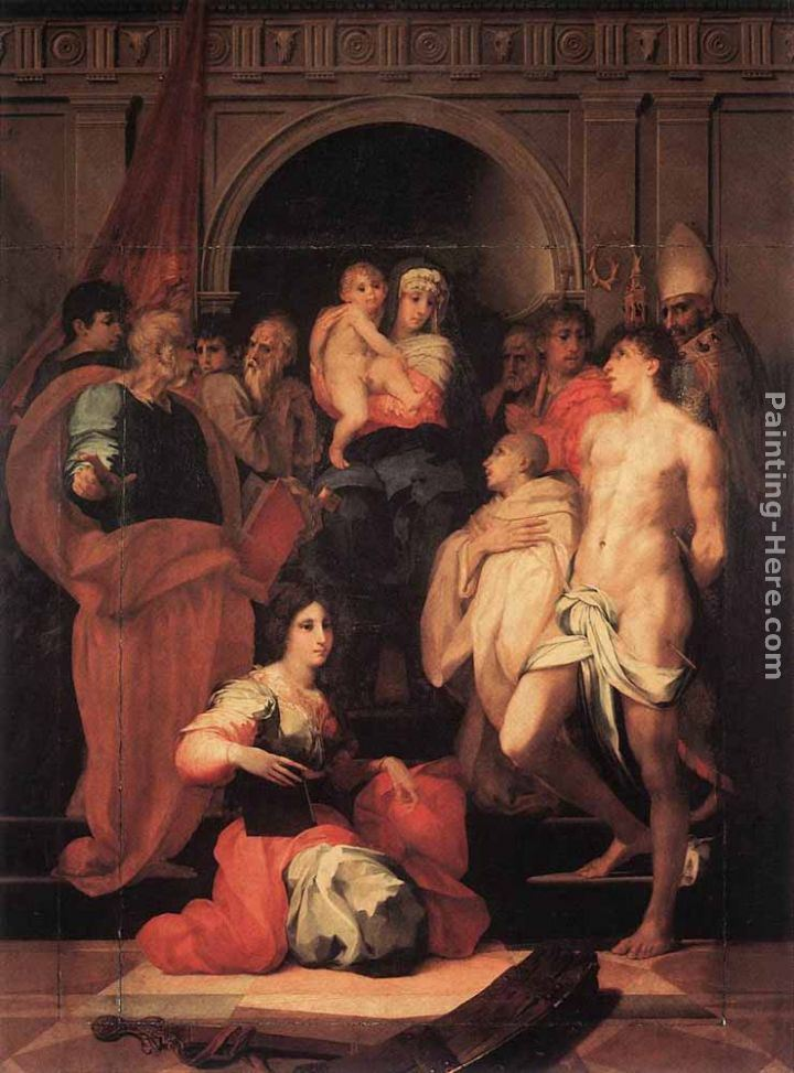 Rosso Fiorentino Madonna Enthroned and Ten Saints