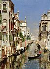 Marco Canvas Paintings - A Venetian Canal with the Scuola Grande di San Marco and Campo San Giovanni e Paolo, Venice