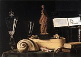 Sebastien Stoskopff - Still-Life with Statuette and Shells