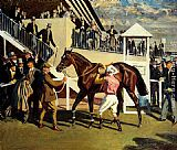 Sir Alfred James Munnings - A Winner At Epsom