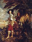 Sir Antony Van Dyck Canvas Paintings - Charles I King of England at the Hunt