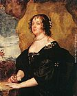 Sir Antony Van Dyck Canvas Paintings - Diana Cecil, Countess of Oxford