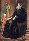 Son Canvas Paintings - Genoese Noblewoman with her Son
