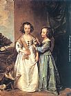 Sir Antony van Dyck Portrait of Philadelphia and Elisabeth Cary painting