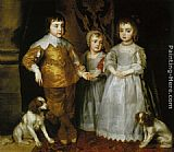 Charles Wall Art - Portrait of the Three Eldest Children of Charles I