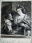 Sir Antony van Dyck Titian's Self Portrait with a Young Woman painting